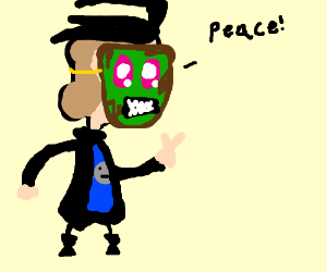 A fake invader zim goes PEACE!