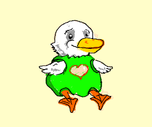 Turtle-duck with a heart