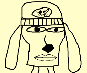 A very realistic parappa the Rapper