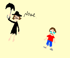 Mary Poppins does nothing with boy