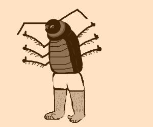 half man half cockroach 100% thumbs up