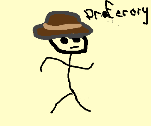 """Man in jungle hat, who is a """"praferory"""""""