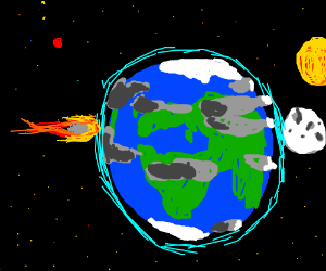 Asteroid collides with the Earth