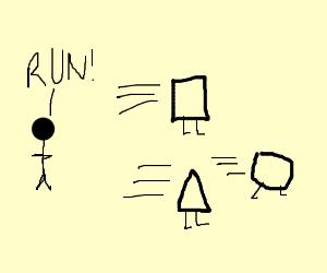 Geometry running away