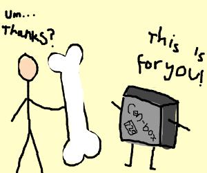 "Stick man gets oversised boner from ""Cen"" box?"