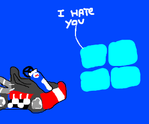 Windows 8 is mad at Mario Kart.