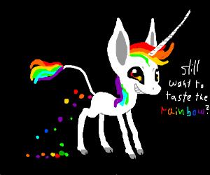 a man made of rainbows drawception