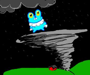 froaki (pokemon) In a storm