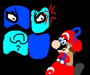 Blue windows logo hates Mario's kart