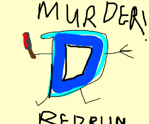 drawception mascot on murderous rampage
