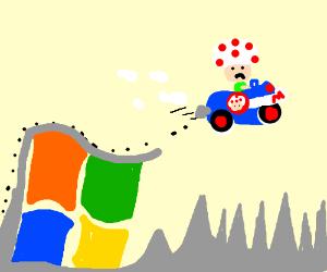 "Microsoft windows doesnt ""support"" mario kart"