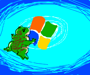 Toad accidentally crosses into Windows 7.