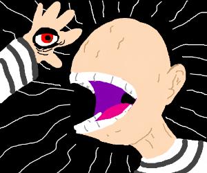 draw the most creepy, john-whyish monster ever