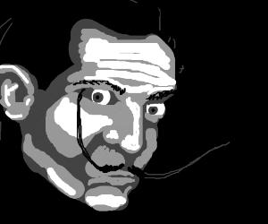 Salvador Dali, big eyes, no torso.