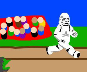 Stormtrooper is winning the race!