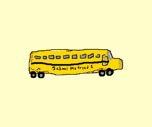 3:A dirty old school bus