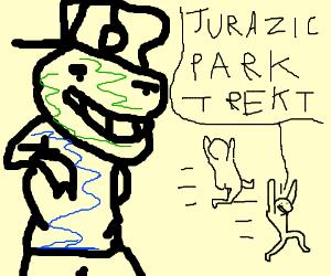 Jurassic Park T. rex scene