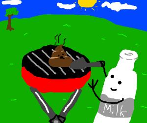 Milk barqueing poo