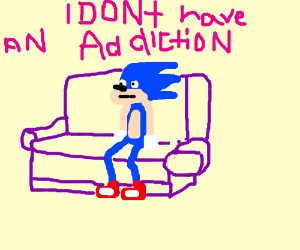 Sonic on Couch confronted bout Speed addiction