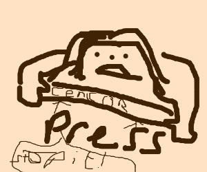 rasta-haired guytryto censor the press