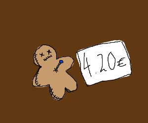 voodoo doll on sale at 4.20