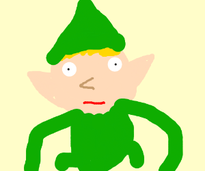 a very ugly and weird elf