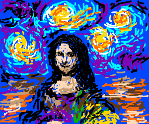 Mona Lisa by Van Gogh