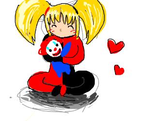 Young Harlie Quinn loves clowns.