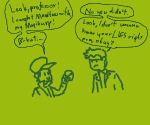 Magikarp captures MewTwo? Prof Oak denies
