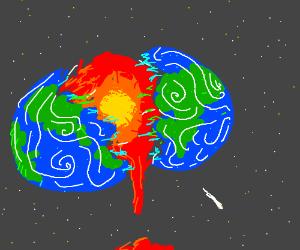 Earth is split apart
