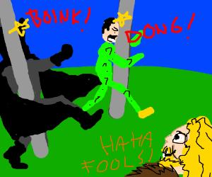 Batman & riddler walk into poles Viking laughs