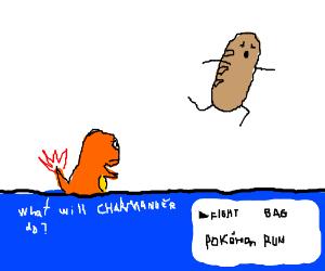 Pokemon battle against bread