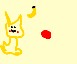 Pikachu and some other red thing...