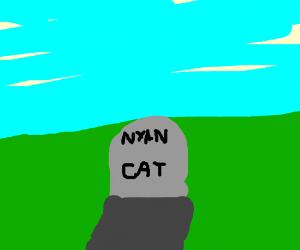 Tombstone of nyan cat