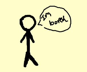 Man standing, bored with life