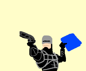 Robocop claims the blue square
