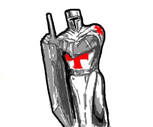 Knight templar gets an anime sword