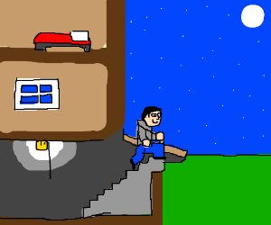 Man sneaks out of house via basement