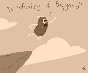 Potato tries to fly