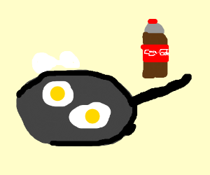 making eggs with coke