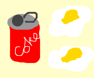 coke and eggs