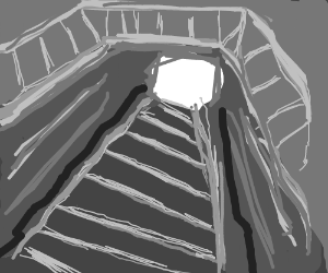 The light at the end of the stairway