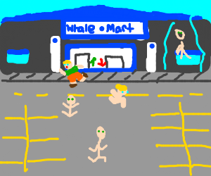 5 People fleeing from Walmart