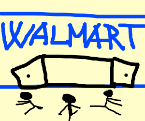 People spazzing out at Walmart