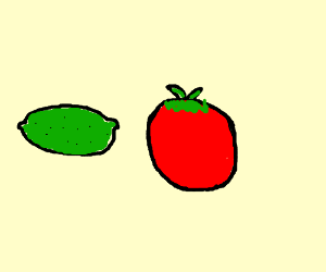 green lemon red tomato have all time in world