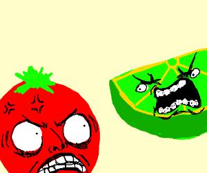 Tomato head VS. Lime head