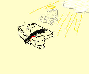 Mouse dies in mousetrap & becomes an angel