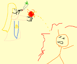 zelda kills orange guy while smoking weed