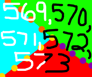 Counting from 569 to 573