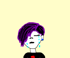 edgy person crying